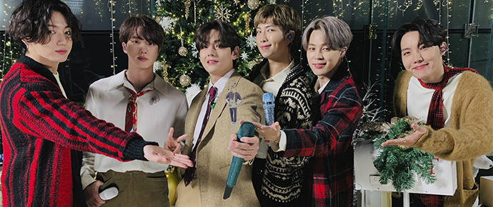 BTS @ The Disney Holiday Singalong